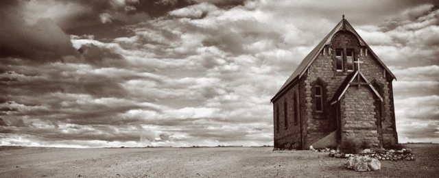 deserted desert church