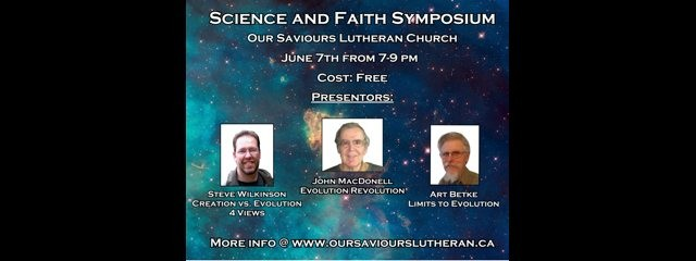 Science and Faith Symposium in Prince George BC Canada