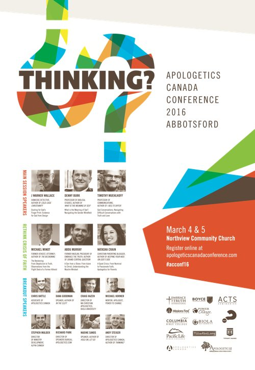 Apologetics Canada Conference 2016 poster